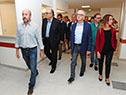 Ministro Jorge Basso y otras autoridades recorren instalaciones de nuevo edificio que albergará al hospital de Colonia