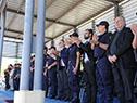 Ministro Eduardo Bonomi en ceremonia de incorporación de agentes policiales