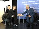 Vázquez mantuvo encuentros con el presidente del Centro Financiero para la Cooperación Sur-Sur, Cai E'Sheng