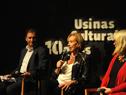 Ministra María Julia Muñoz, haciendo uso de la palabra en celebración de 10 años de Usinas Culturales