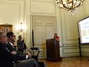 Directora ejecutiva de AUCI, Andrea Vignolo, presenta experiencia uruguaya de construcción de su política de cooperación internacional