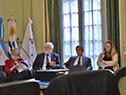 Directora ejecutiva de AUCI, Andrea Vignolo, presenta experiencia uruguaya de construcción de su política de cooperación internacional.