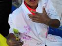 Más de 60 niños y adolescentes de programas de INAU pintaron murales contra la violencia