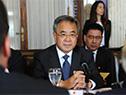 Vice primer ministro de China fue recibido en el Palacio Legislativo por la vicepresidenta de Uruguay, Lucía Topolansky