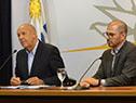 Secretario de Presidencia, Miguel Ángel Toma, y prosecretario, Juan Andrés Roballo
