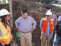 Visita del ministro Víctor Rossi a las obras viales en Artigas