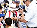 Inauguración de la cosecha de arroz 2019 que por primera vez se realizó en un centro de investigación