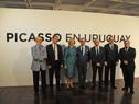Inauguración de la exposición de Pablo Picasso