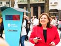 Lanzamiento, en la plaza Independencia de Montevideo, de Abril, Mes de los Cuidados