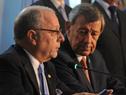 Ministro de Relaciones Exteriores y Culto de Argentina, Jorge Fauire, dirigiéndose a los presentes