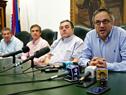 Director de la OPP, Álvaro García, e intendente Eber da Rosa, entre otras autoridades, participaron de firma de contrato