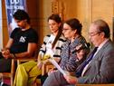 Conferencia de prensa sobre retiro de la primera bailarina del Ballet Nacional del Sodre, María Noel Riccetto