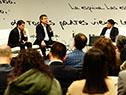 Director de OPP, Álvaro García, director del Inefop, Eduardo Pereyra, y titular de la empresa ICT4V, Daniel Kofman