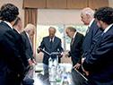 Presidente Tabaré Vázquez con integrantes del Congreso Judío Latinoamericano