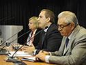 Liliam Kechichian, Pablo Ferreri y Enzo Benech
