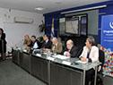 """Autoridades en la conferencia """"Desafíos del puerto de Nueva Palmira con el canal Martín García a 34 pies de profundidad"""""""