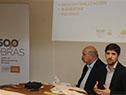 Director nacional de Descentralización de OPP, Pedro Apezteguía, y subdirector de OPP, Santiago Soto