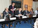 Firma de contratos para refacción de ruta 14