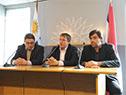 Roque Delgado, Fabián Cardozo y Luis Curbelo