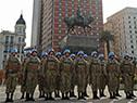 Presidente Vázquez encabezó el acto del 208° aniversario del Ejército Nacional