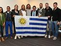 AAutoridades de la Secretaría Nacional del Deporte entregaron el Pabellón Nacional a la selección nacional de trail y a la de ateltismo