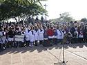 Alumnos de la escuela N.° 80 de Paso de los Toros