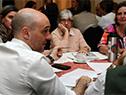 Ministro de Salud, Jorge Basso y el representante de OPS, Giovanni Escalante