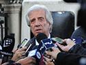 Tabaré Vázquez llega a la sede en Montevideo de la Unión Europea