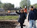 Eneida de León recorre nuevo espacio donde serán realojadas familias del barrio La Chapita, Paysandú