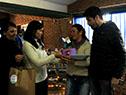 Acto de inauguración realizado en el salón de la cooperativa Covisan 6