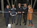 Inauguración de remodelación de puente original sobre río Santa Lucía