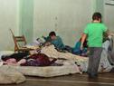 Director del Sinae, Fernando Traversa, recorrió centros donde se alojan las familias desplazadas