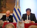 Canciller de Argentina, Jorge Faurie, y Felipe Michellini