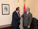 Presidente Tabaré Vázquez recibió al presidente del Banco de Desarrollo de América Latina-CAF, Luis Carranza Ugarte