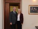 Presidente Tabaré Vázquez recibió en oficina de Suárez y Reyes a precandidata a la vicepresidencia de Uruguay por el Frente Amplio, Graciela Villar