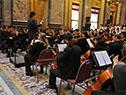 En el acto participó la Orquesta Sinfónica Juvenil del Sodre, y el Coro de Niños y Jóvenes del Sodre dirigido por el maestro Víctor Mederos