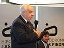 Víctor Rossi, en la presentación del primer ómnibus eléctrico de la Compañía del Este en Canelones