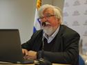 Ministro Eduardo Bonomi en conferencia tras haber encabezado recorrida por Centro de Rehabilitación de Punta de Rieles