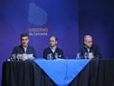 Álvaro García, Juan Andrés Roballo y Ernesto Murro en Conferencia de prensa Gobierno de Cercanía