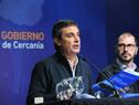Álvaro García y Juan Andrés Roballo en Conferencia de prensa Gobierno de Cercanía