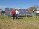 Colocación en paraje Montevideo Chico, de paneles fotovoltaicos para generación de energía eléctrica en hogares rurales