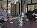 Tabaré Vázquez y José Mujica en la oficina presidencial ubicada en las avenidas Suárez y Reyes