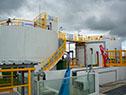 Planta de tratamiento de aguas residuales, sistema de bombeo y redes de saneamiento en Fray Marcos, Florida