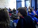 Marina Arismendi con participantes del Programa Uruguay Trabaja