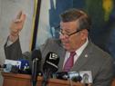 Canciller Rodolfo Nin Novoa en conferencia de prensa