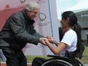 """Presidente Vázquez inauguró pista de atletismo en liceo militar y cerró Juegos Paradeportivos Nacionales """"María Auxiliadora Delgado"""""""