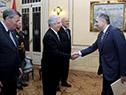 Tabaré Vázquez recibe carta credencial por parte del embajador de Georgia, Irakli Kurashvili