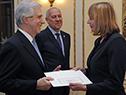 Tabaré Vázquez recibe carta credencial por parte de la embajador de Polonia, Aleksandra Piątkowska