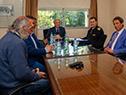 Tabaré Vázquez reunido con los alcaldes de Santa Lucía y Aguas Corrientes