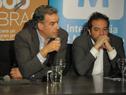 Conferencia de prensa de anuncio de acuerdo para proyecto integral de saneamiento, drenaje pluvial y vialidad